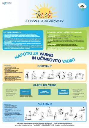 Z gibanjem do zdravja - napotki za varno in učinkovito vadbo